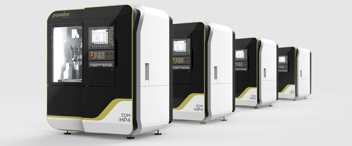 Four Posalux EDM HP4 machines